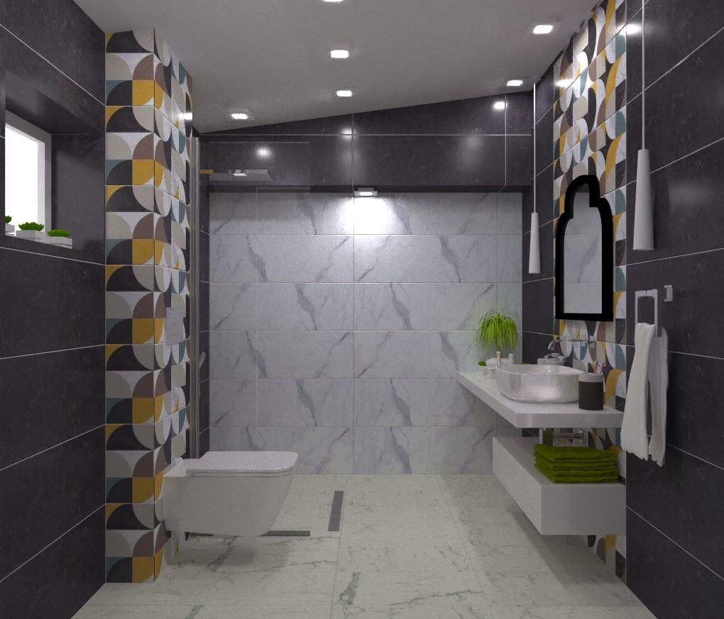 interioren-dizajn-za-bania–kombinacia-cherni-i-beli-plochki-s-dekori-1